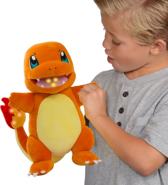 Pokémon Flame Action Charmander - Interactieve Knuffel