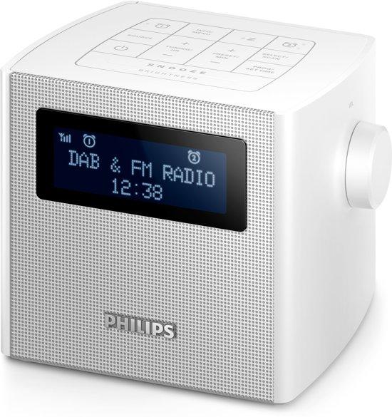 philips ajb4300 wekkerradio met dab wit. Black Bedroom Furniture Sets. Home Design Ideas
