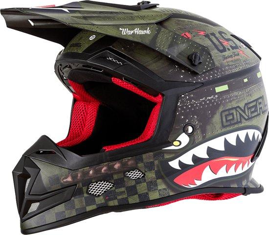O'Neal Crosshelm 5 Series Warhawk Black/Green-XS