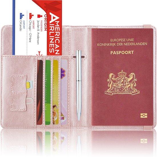 Paspoorthoesje / Paspoorthouder - V2 - Rose Goud