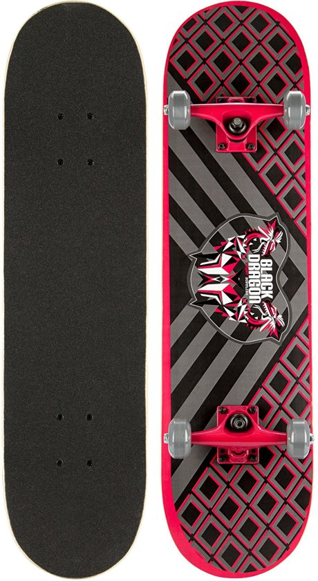 Black Dragon Skateboard - Black Dragon - Antraciet/Rood/Grijs