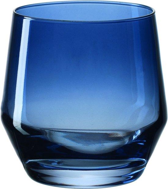 Leonardo Puccini - Waterglas - donkerblauw - 6 stuks