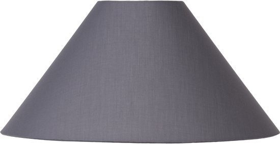 Lucide SHADE - Lampenkap - Ø 45 cm - Grijs