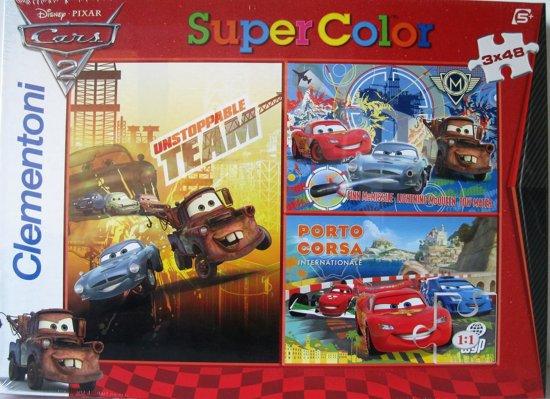 Clementoni Supercolor puzzel - Disney Pixar Cars 2 - 3 x 48 stuks