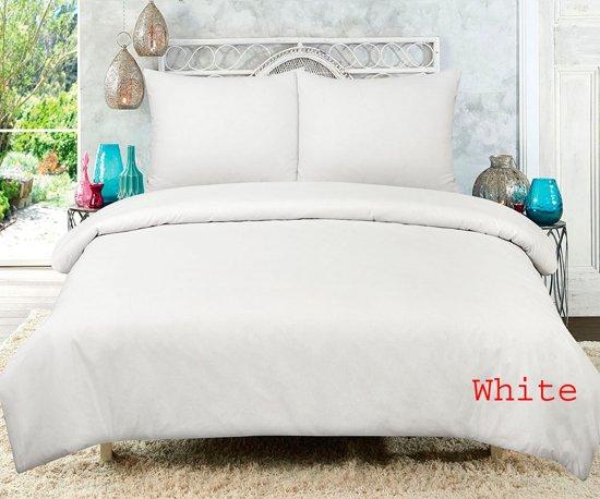 Hotel dekbedovertrekset - Wit - 100% Katoen Lits-jumeaux  240x220 + 2 slopen 60x70cm