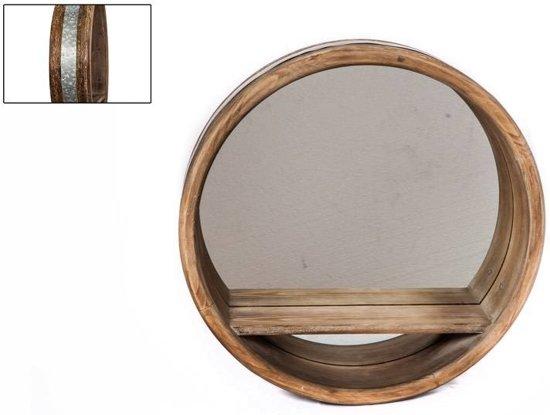 Spiegel Zwart Rond : Bol spiegel rond hout plank