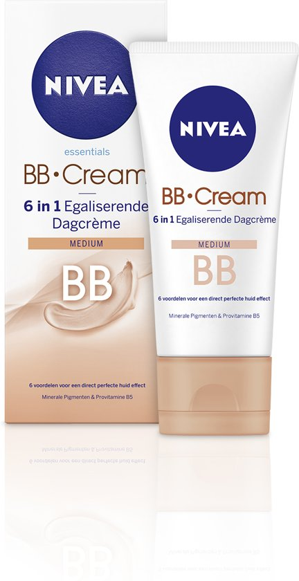NIVEA Essentials BB Cream 6 in 1 Egaliserende Dagcrème Medium - SPF10 - 50 ml