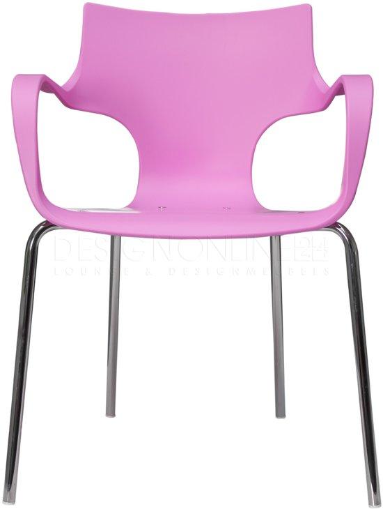 24Designs Stapelbare Stoel Jim - Armleuningen - Roze