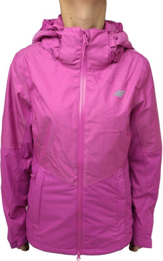 4F Women Jacket T4L16-KUD004PINK, Vrouwen, Roze, Sportjas maat: L