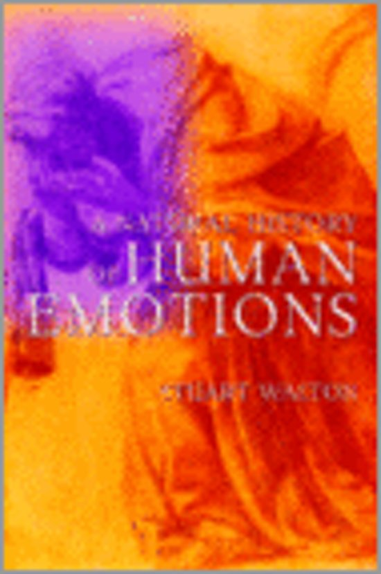 Boek cover A Natural History of Human Emotions van Stuart Walton (Hardcover)