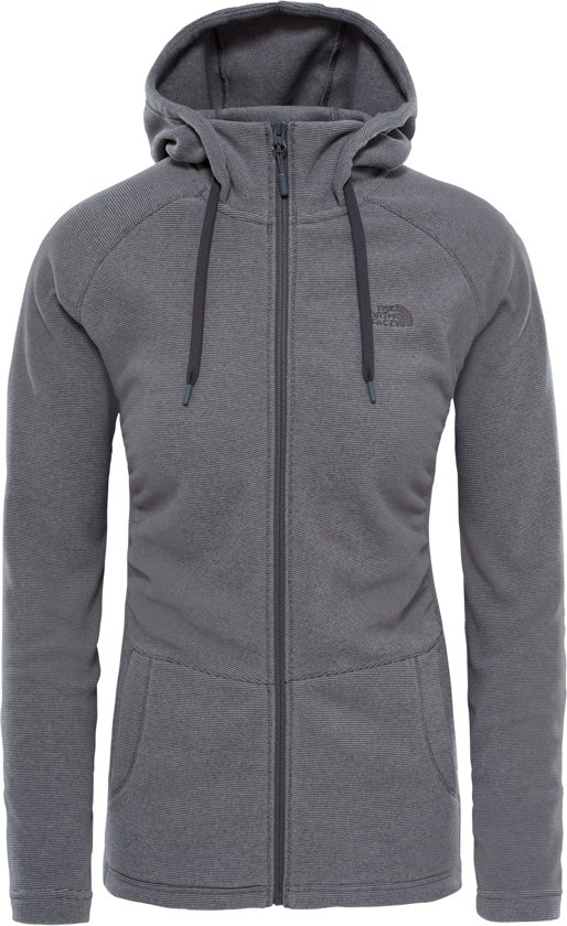 The North Face Mezzaluna Full Zip Hoodie Vest - Dames - Graphite Grey Stripe