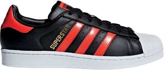 Unisex Adidas Zwart Maat wit 38 Superstar rood Sneakers xxvq6S