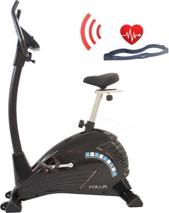 Hometrainer - FitBike Ride 5 HRC - Fitness fiets met hartslagband - Grijs