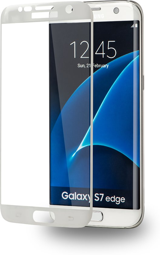 Azuri curved Tempered Glass - wit - voor Samsung Galaxy S7 edge in Boxtel
