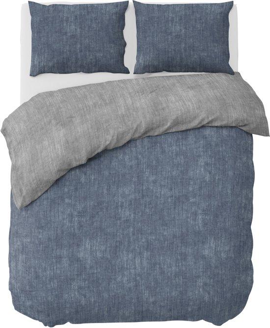 Nightlife Dekbedovertrek Washcotton Blue/Grey-240x200/220
