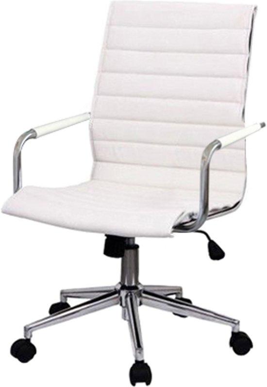 Bureaustoel cessa wit leder for Bureau stoel