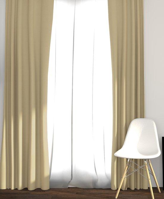 larson luxe blackout gordijn verduisterend haken licht taupe 3x25m