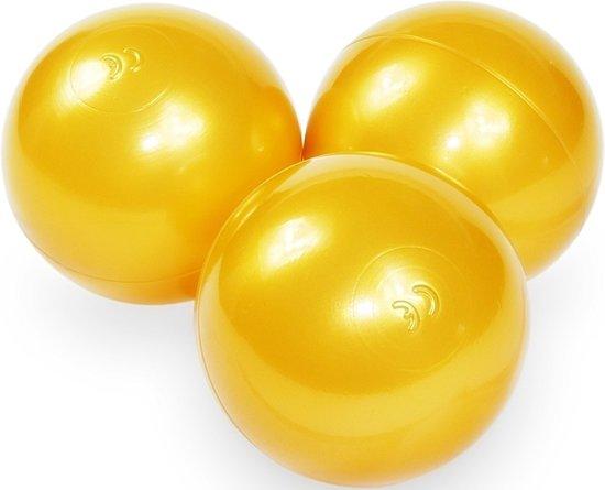 Ballenbak ballen goud (70mm) voor ballenbak 100 stuks