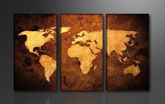 Schilderij Wereldkaart (160x90cm)