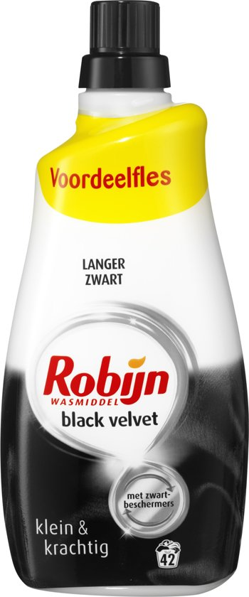 Robijn Black Velvet Klein & Krachtig wasmiddel - 84 wasbeurten - 2 x 1,47 l
