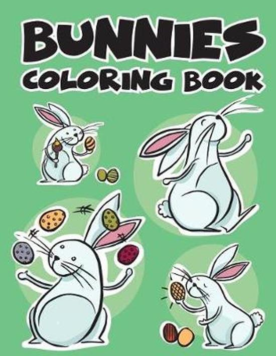 Bol Com Bunnies Rabbit Easy Coloring Book For Kids Toddler