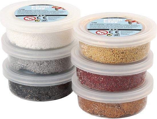 Foam Clay - Klei - Set met 6 Metallic Kleuren