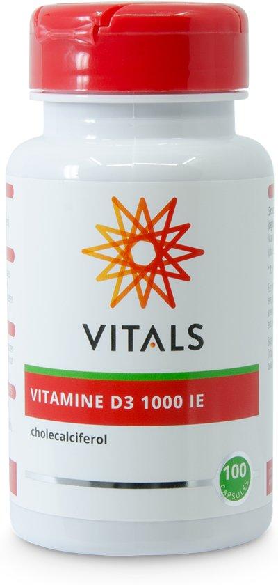 Vitals Vitamine D3 1000 i.e.  - 100 Capsules - Vitaminen