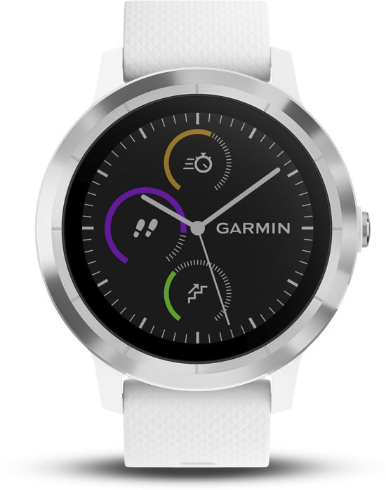 Garmin Vivoactive 3 - smartwatch - Ø 43 mm - rvs / wit