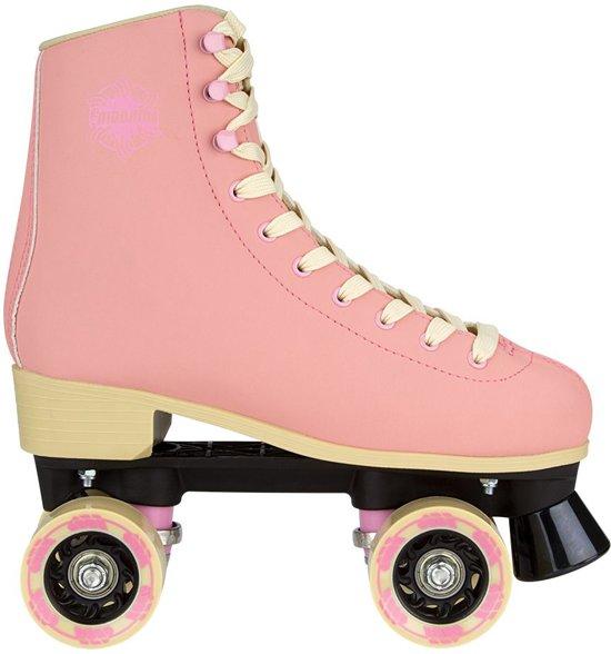 28988b0583c bol.com | Nijdam Retro Rolschaatsen - Eye Candy - Licht roze/Beige ...