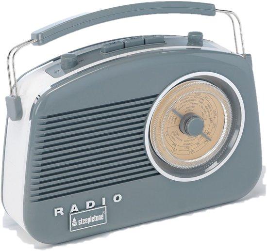 retro radio DAB  draagbaar Dorset grijs