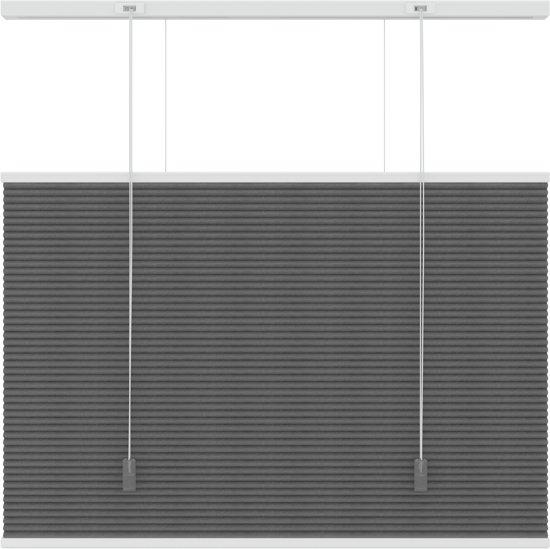 Plisségordijnen - Antraciet - Lichtdoorlatend - 200x180 cm