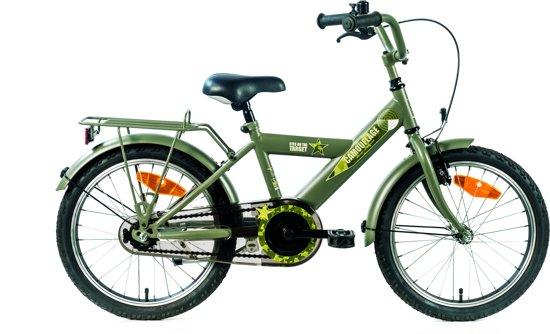 Kinderfiets Bike Fun Camouflage 18 inch kaki/groen