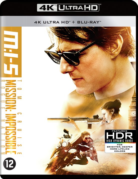 DVD cover van Mission: Impossible 5 - Rogue Nation (Ultra Hd Blu-ray)