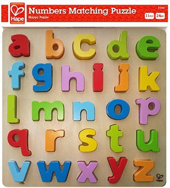 Afbeelding van het spel Hape Houten puzzel alfabet kleine letters