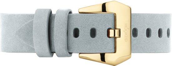Hooked Concepts - Mint grijs nubuck horlogeband - Goudkleurige gesp - STGNB16-22 (aanzetmaat: 24mm)