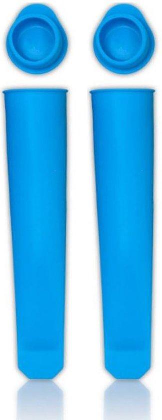 3 BMT siliconen ijsvorm calippo blauw - set van 2 - lengte 20cm