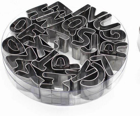 RVS Alfabet Uitsteker Set - ABC Letters Koekjesvormen / Koekvormpjes vormpjes Valentinaa