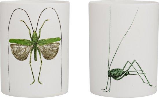 Bloomingville - Waxinelichthouder - Porselein set van 2 - 6xH8 cm