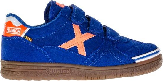 Munich G-3 Enfant Baskets Vco Chaussures Junior - Taille 35 - Unisexe - Noir / Blanc / Bleu / Orange xz9XAs