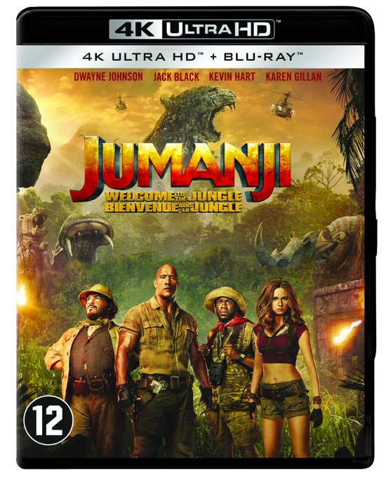 DVD cover van Jumanji: Welcome To The Jungle (4K Ultra HD Blu-ray)