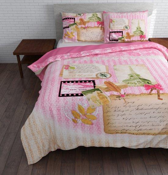 Sleeptime Love on Top Dekbedovertrek 140x200/220 + 1 kussensloop 60x70 - Grijs