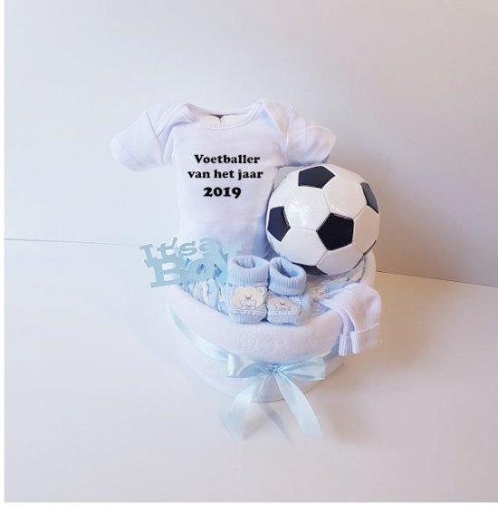 Voetbal Luiertaart Voetballer Van Het Jaar 2019 | Kraamcadeau | Kraampakket | Baby Cadeau