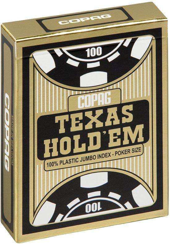 Afbeelding van het spel Copag Texas Hold'em Gold Zwart 100% plastic