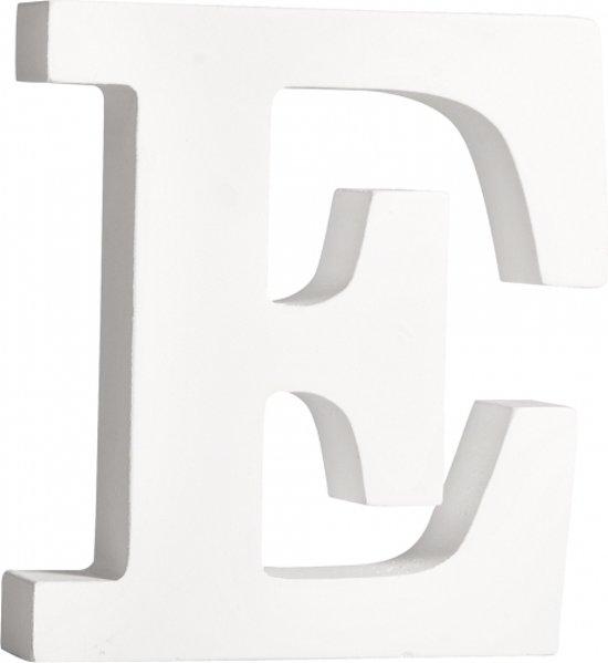 Houten letter E 11 cm