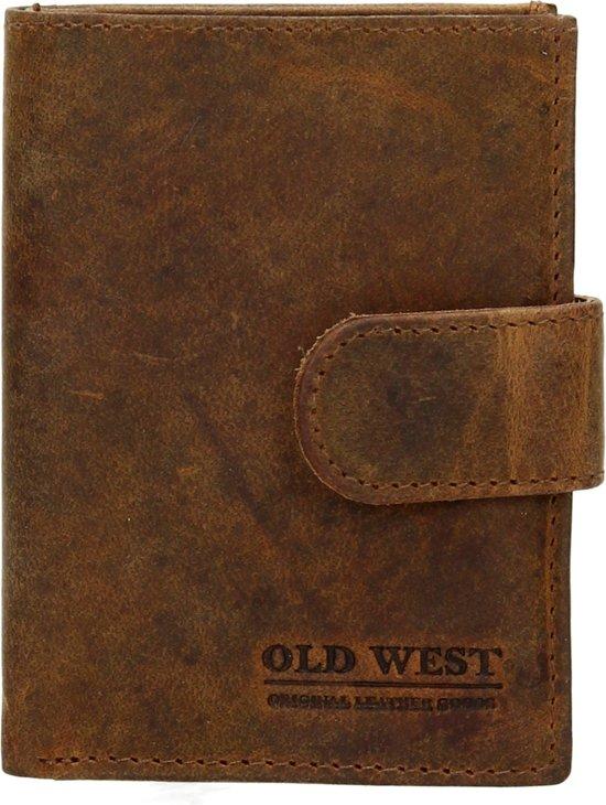 Portemonnee Pasjes Leer.Bol Com Old West Compacte Portemonnee Rfid Cardprotector Leer