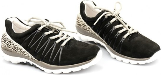 Gabor Rollingsoft Dames Lage sneakers - Zwart - Maat 37