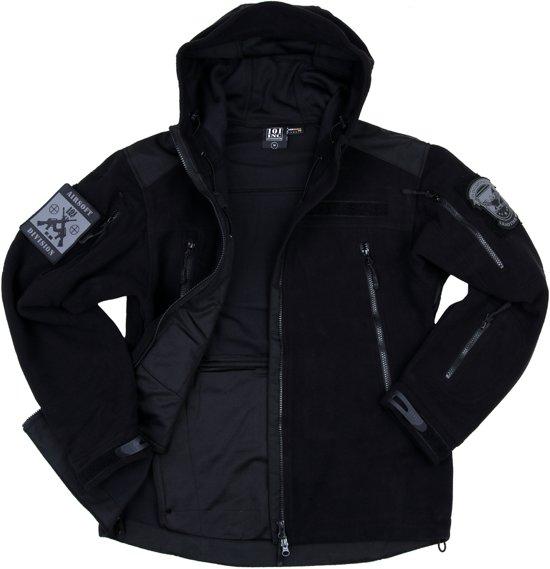 101inc Heavy Duty hooded fleece jack zwart