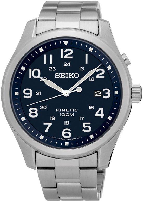Seiko SKA721P1 horloge heren - zilver - edelstaal