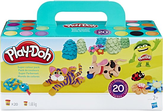 Play-Doh 20 kleuren potjes - 1680 gram - Klei