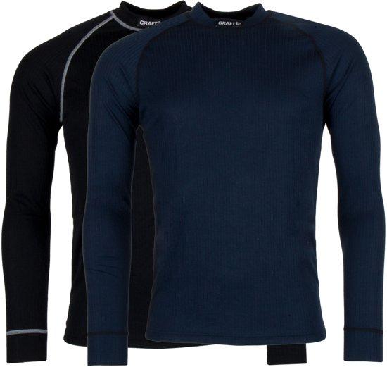 Craft Active 2-Pack Tops Heren Thermoshirt - Black/Blaze - L